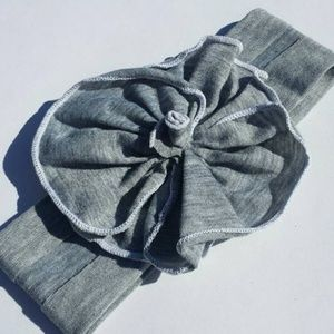 Other - NEW baby toddler gray flower headband